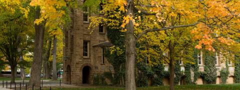 Side of Nassau Hall